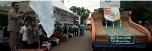 Pawai ta'aruf Musabaqah Tilawatil Qur'an (MTQ) yang ke-47 tingkat Provinsi Lampung. (Foto: A. Terpilih)