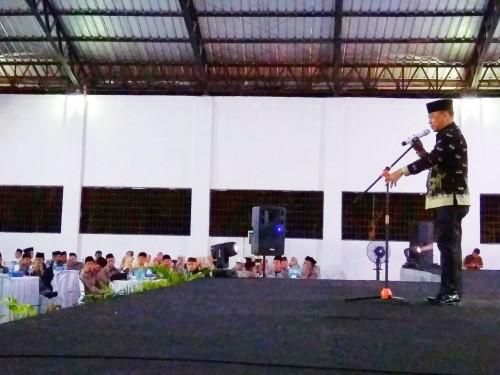 Malam ta'aruf dan pelantikan dewan hakim MTQ Provinsi Lampung ke-47 di GOR Zainal Abidin Pagar Alam, Kagungan Ratu, Kota Panaragan Jaya, ibukota Kabupaten Tulang Bawang Barat (Tubaba), Jumat (26/4/19). Foto: Eprizal