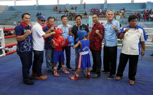 Kejuaraan Tinju Amatir se-Sumatera Bagian Selatan (Sumbagsel) dan Banten resmi dibuka. (Foto: Kmf Lamsel)