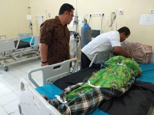 Anggota KPPS Desa Muara Tenang, Kecamatan Tanjung Raya Kabupaten Mesuji, menghembuskan nafas terakhirnya, Rabu (24/4/19). Foto: Rama