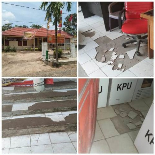 Kantor Camat, Kecamatan Tulang Bawang Tengah, Kabupaten Tulang Bawang Barat (Tubaba) terlihat kurang perawatan. (Foto: A. Terpilih)