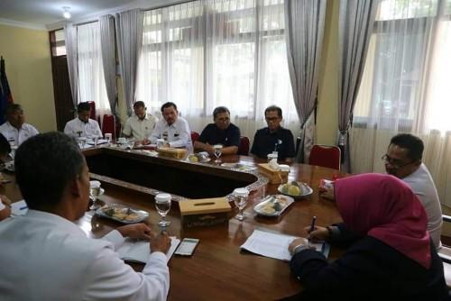 Rapat tindak lanjut MoU rencana pembangunan gedung BPOM di Lampung Barat. (Foto: Humas)
