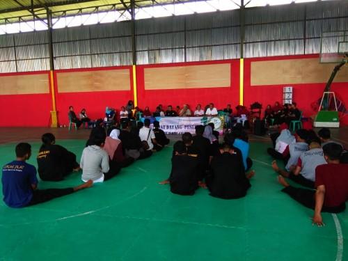 Atlet dari Cabang Pencak Silat untuk Kabupaten Pringsewu yang akan berlaga di tingkat Provinsi pada bulan September mendatang